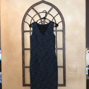 Women's Ann Taylor Blue, black, gray Dress